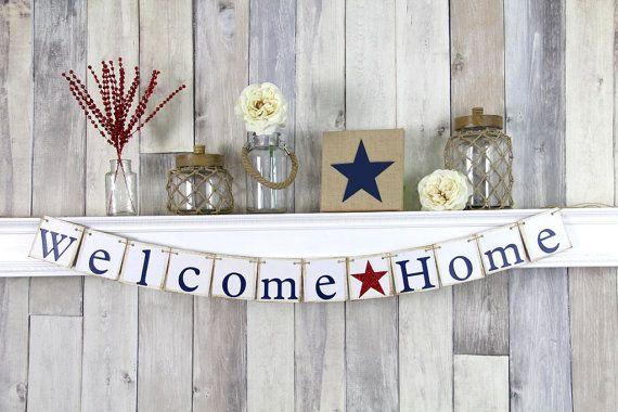 Bienvenida a casa muestra, despliegue Homecoming, Banner de Bienvenido a casa…