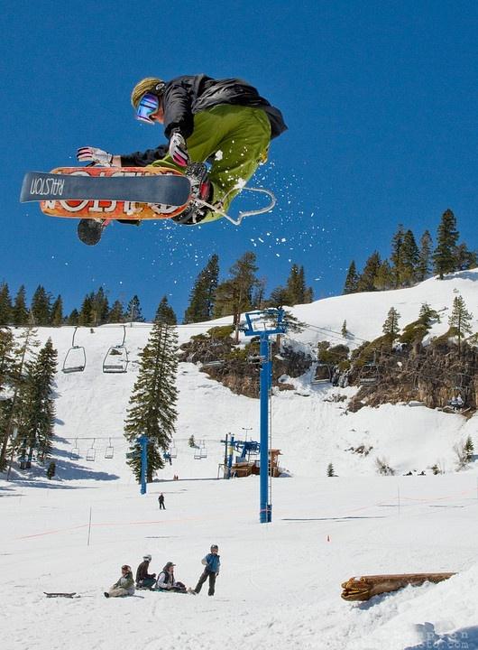 Minus 7 Melee Snowskate contest, 2009 at Donner Ski Ranch, California.