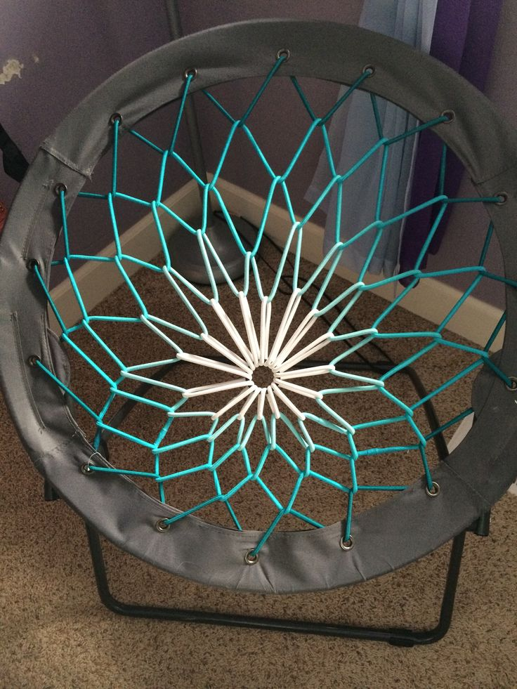 Blue, white, and turquoise bungee chair from target #alexfromtarget