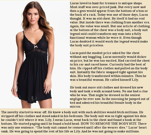 Krazy Kay's TG Captions and Swaps: A Good Body Suit For a Good Price