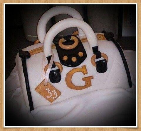 Guess handbag cake