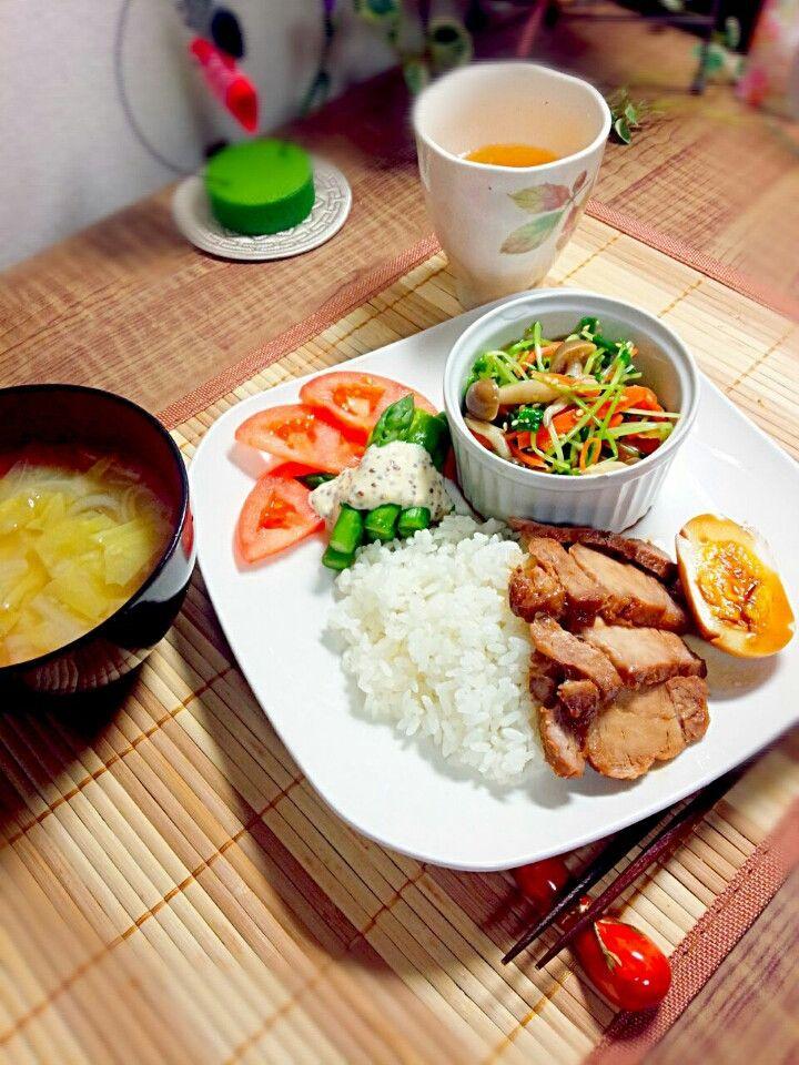 チャーシュー丼ワンプレート|どさんこ主婦の美味しい日記