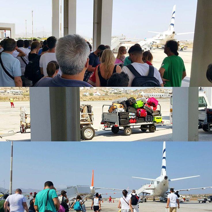 Packed like travel ... sardines in greek oil! Not an elegant way to depart from JMK Mykonos airport Greece. At least you get to walk the runway! #avgeek #aviation #instagramaviation #airport #airportlife #travelblogger #travel #flying #mykonos #μυκονος #mykonos2015 #welovegreece #summer #summertime #greece2015 #greeksummer ##greece #greekislands ##latergram #picoftheday #instamykonos #loveingreece #greecelover_gr #cyclades #cyclades_islands #ilovegreece #greeksummer #греция #Миконос