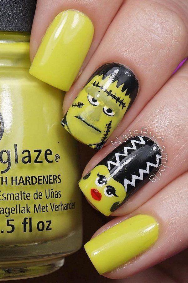 50 Cool Halloween Nail Art Ideas