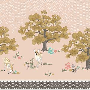 Hawthorne Threads - Autumn Fawn - Woodland Border in Shell