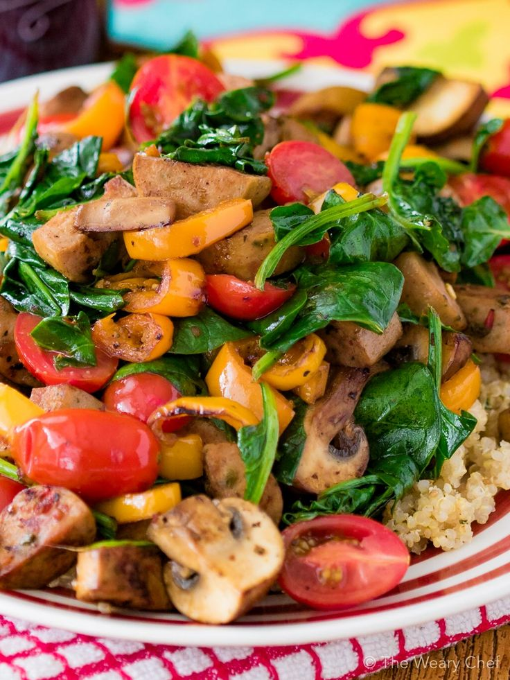 Dig into this fast, delicious sausage stir fry for dinner!
