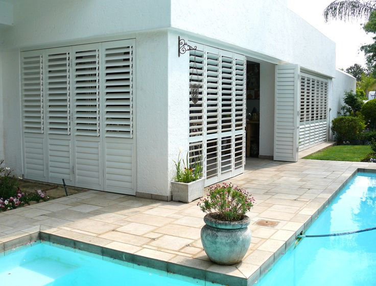 #HomeDecor #SecurityShutters #AMERICANshutters Aluminium shutters ideal for patios offering strength and beauty.