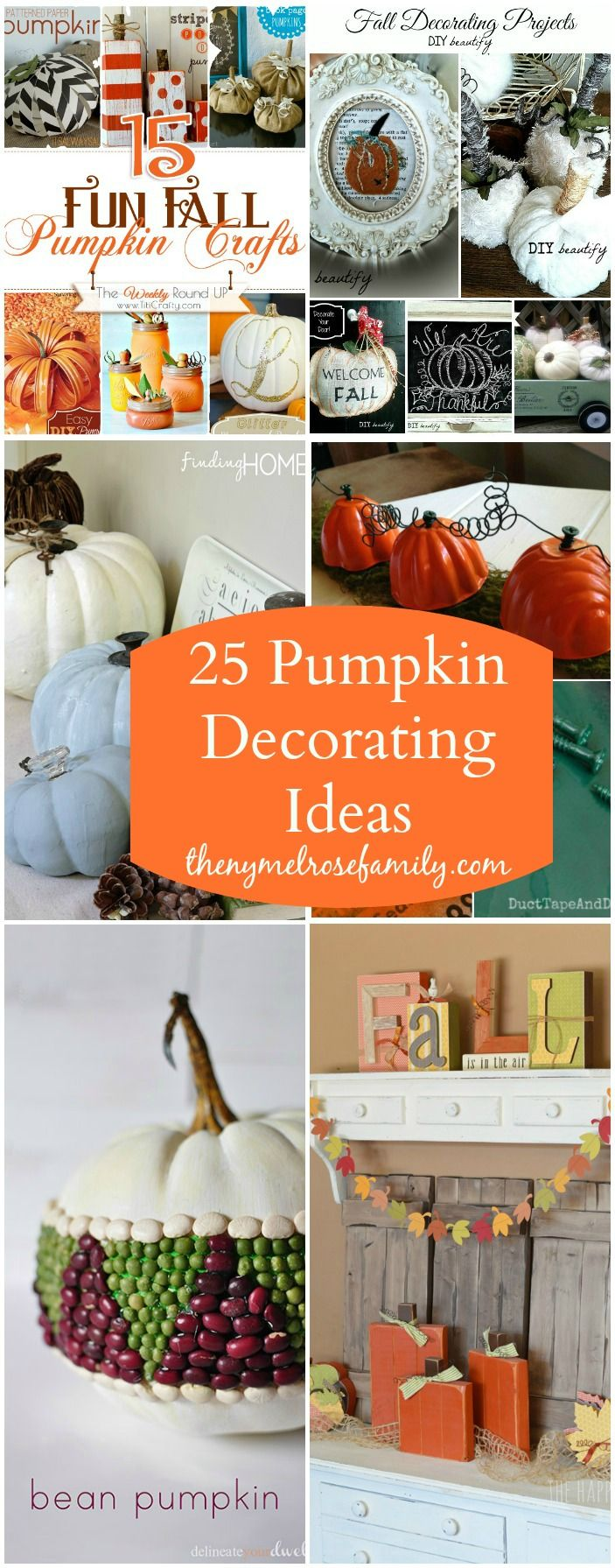 25 Pumpkin Decorating Ideas Great Fall Decorations
