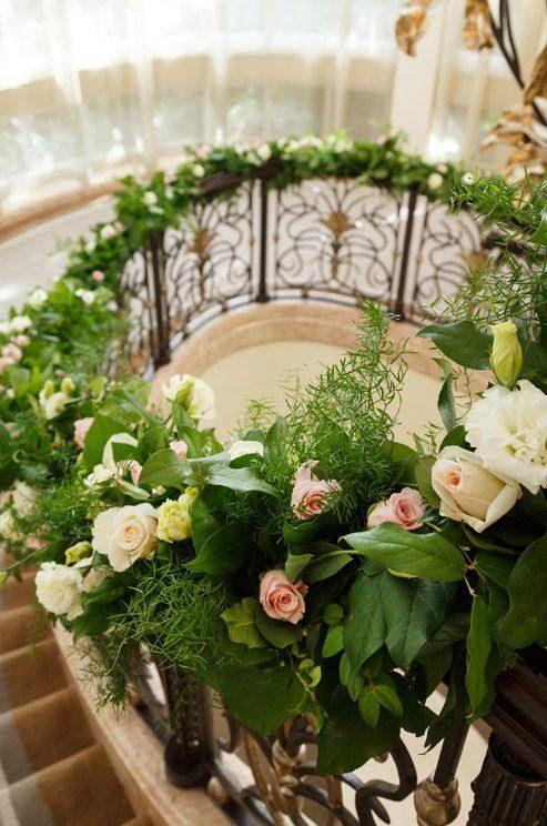 Wedding Ideas: 19 Beautiful Ways to Decorate Your Staircase - MODwedding