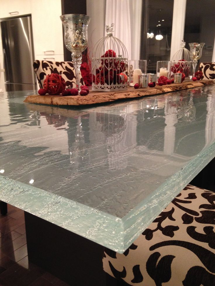 Lovely ThinkGlass Table Top Color Crystal Texture Brossa Thickness