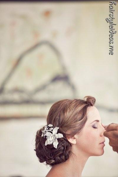 Hairstyle: Hair Beautiful, Flowers Pin, 1313 Photography, Beautiful Photos, Hairstyles Inspiration, Hair Style, Pretty Hair, Wedding Hairdos, Hair Photos