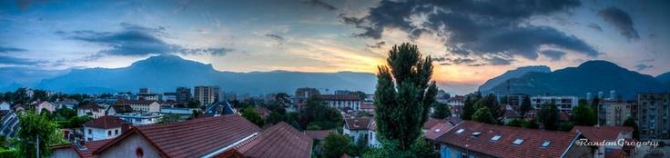 Coucher du soleil sur Grenoble...http://www.gregrandon.com/