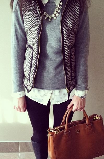 LOVE this preppy outfit. gotta have that vest