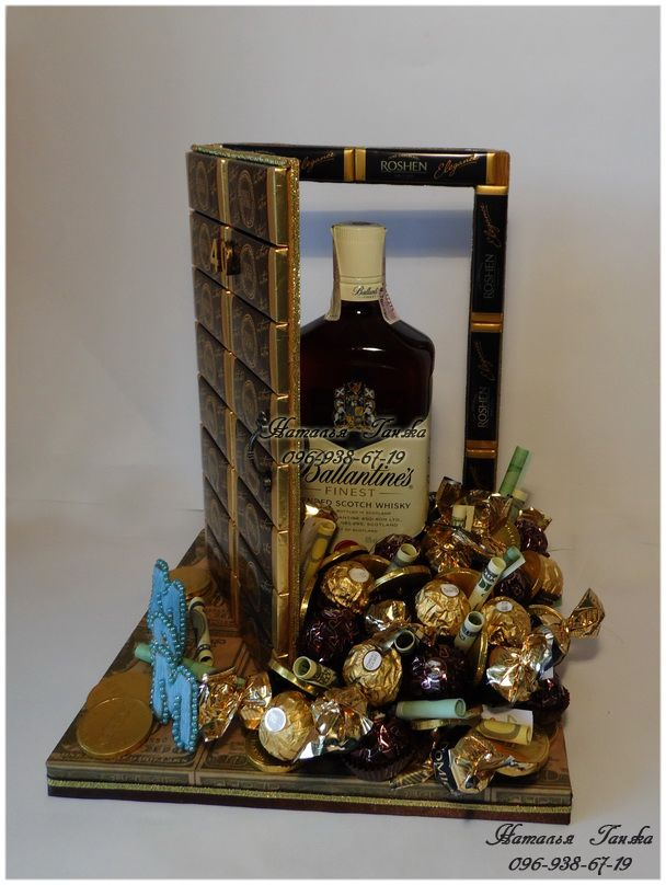 Букеты и композиции из конфет в Киеве » Blog Archive » Композиция из конфет «Дом — полная чаша»