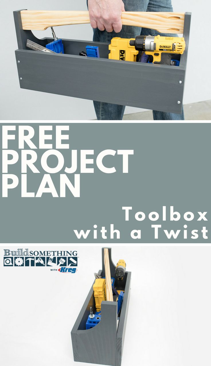 FREE Project Plan: DIY Toolbox with a Twist | There still may be no better way to tote small tools than with a traditional toolbox. This one offers a unique design twist, with a handle that's set at an angle. It's a simple idea, but you'll be surprised how it simplifies getting things in and out, and how much more comfortable it is to carry.