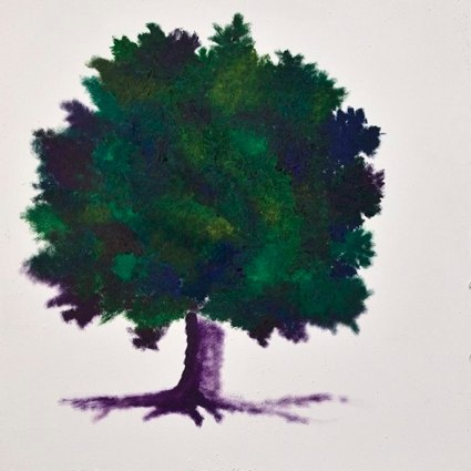 •Violet - tecnica mista, olio su tela 70x70cm- collezione privata roma