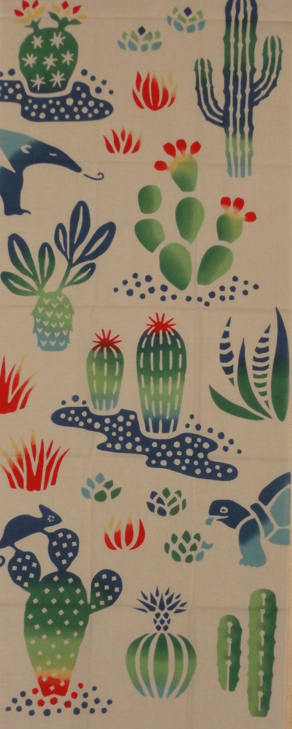 Tenugui 'Cactuses and Critters'