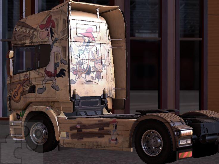 Ez a sorozat képernyőmentés a Trélerek különféle fajtáit mutatja be: vannak olyan mod-ok amelyekkel a kamionodat csicsázhatod. Például átfestheted, ez itt 1 euró volt...