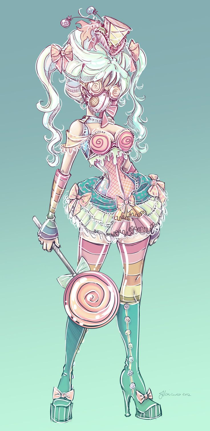 Candy Steampunk Sketch by NoFlutter.deviantart.com on @deviantART