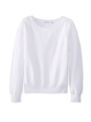 67% OFF 525 America Women's Roll Crew Neck (White)