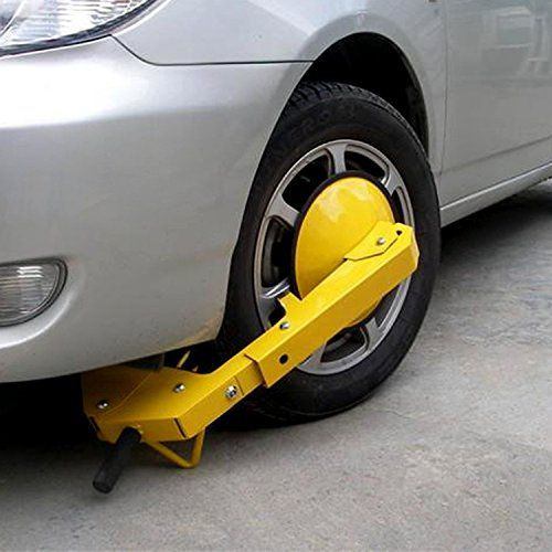 Garain Wheel Lock Clamp Auto Car Vehicle Tire Claw Anti-Theft Security Safety Heavy Duty Wheel Clamp Disc for Car/SUV/Trailers/ATVS/ Caravan/Motorcycle [US STOCK]  Material: Heavy-duty steel frame construction; Durable and Long Lasting  Fit most of car's wheel within 11.8 inches wide, such as, Boat Trailers, Caravan, Trailers, SUV, etc.  Quick & easy installation; comes with 2 high security keys.  Ideal for long stay car parks, car sales forecourts and trailers  Size: 72x25cm/28.1x9.8i...