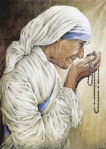 """We need to find God, and he cannot be found in noise and restlessness. God is the friend of silence. See how nature - trees, flowers, grass- grows in silence; see the stars, the moon and the sun, how they move in silence... We need silence to be able to touch souls."" --Blessed Mother Teresa of Calcutta"