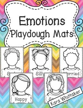 Emotions Playdough Mats - A hands-on way to promote emotional awareness!