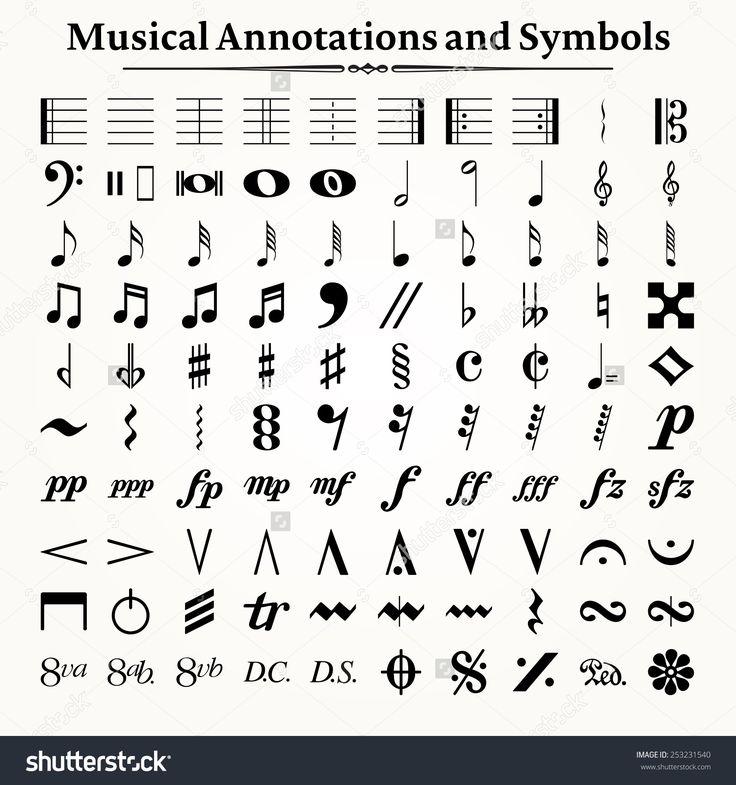 Image result for music symbols