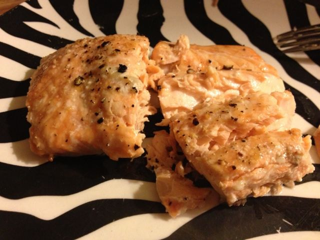 25 mins 400* cold oven drizzle olive oil salt pepper Katie Wanders : Pioneer woman's recipe for perfect salmon