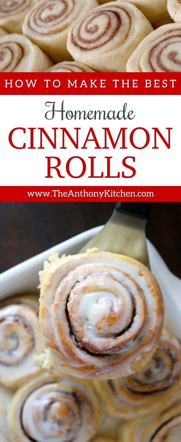 Brunch Recipes   HOMEMADE CINNAMON ROLLS   How to make the best homemade cinnamon rolls: A step-by-step tutorial (with pictures!) showing you everything you need to know for perfect made-from-scratch cinnamon rolls. #homemadecinnamonrolls #cinnamonrolls #breakfast #brunch