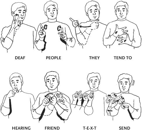 sign language words / site with answers to many questions  about  deaf culture.