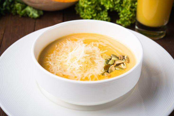 Tekvicová polievka so syrom