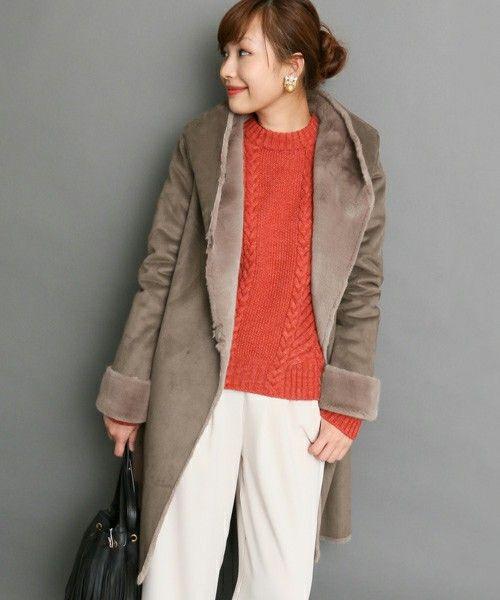 ROSSO フェイクムートンロングコート(ムートンコート)|ROSSO(ロッソ)のファッション通販 - ZOZOTOWN