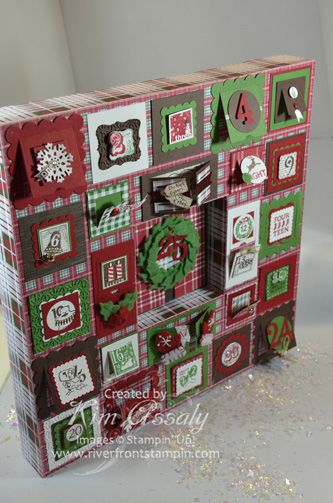 Advent calendar using chunky frame