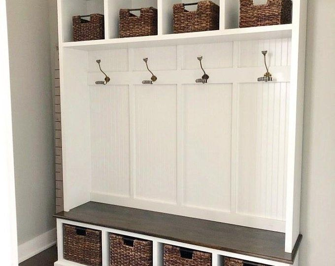 Reclaimed Vintage Door Hall Tree And Bench Hall Tree Storage Bench Mudroom Lockers Entry Furniture Hall tree benches with storage