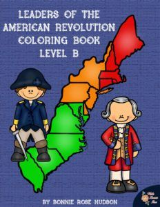 Leaders of the American Revolution Coloring Book. Twenty-six coloring pages with large print copywork to trace, perfect for young writers. Learn fun facts about Abigail and John Adams; John Burgoyne; Guy Carleton; Charles Cornwallis; Ben Franklin; Thomas Gage; King George III; Nathan Hale; John Hancock; Patrick Henry; William Howe; Thomas Jefferson; Francis Marion; Frederick North; Thomas Paine; Paul Revere; Betsy Ross; George Washington, and more!