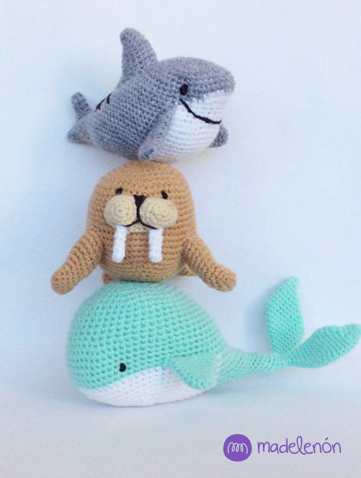 Mi Mar 2 patrón #amigurumi #crochet                                                                                                                                                                                 Más