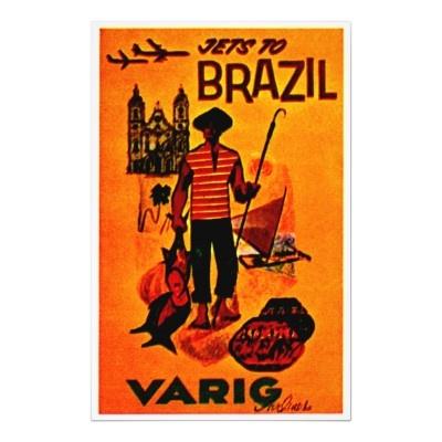 Poster - Brazil via Varig Airlines