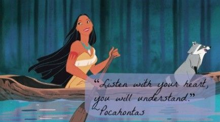 Pocahontas is one of my fave princesses. Cross-cultural interracial love story and she had a mind of her own!