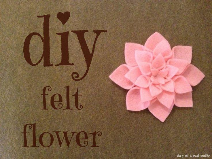 DIY Felt Flowers: A Tutorial