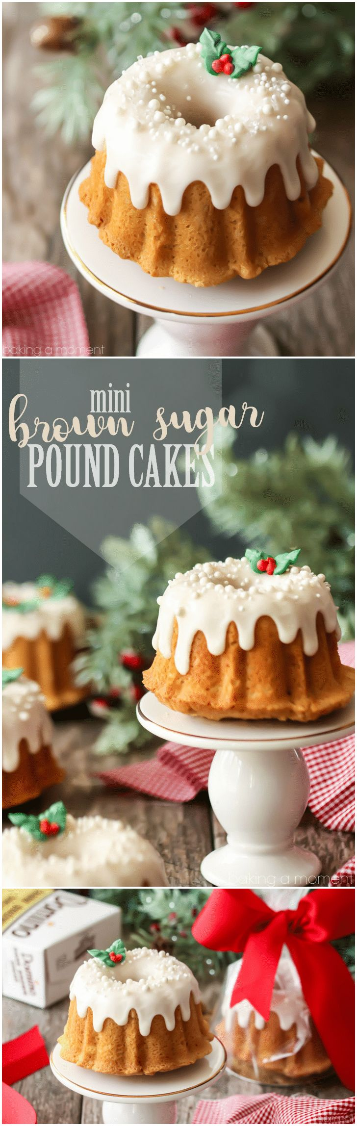 Mini Brown Sugar Pound Cakes