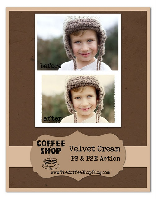 Coffee Shop - free PS tutorials and downloadable actions.