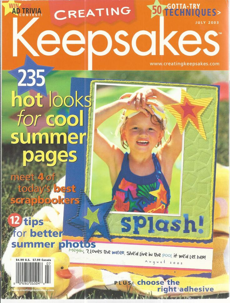Creating Keepsakes Magazine July 2003 Scrapbooking Paper Crafting Cards  #CreatingKeepsakes