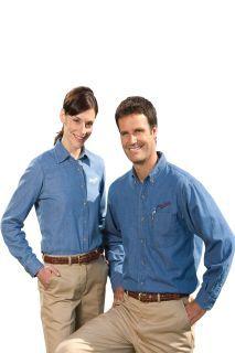 Edwards 1093 Men's Mid-Weight Denim Shirt LS