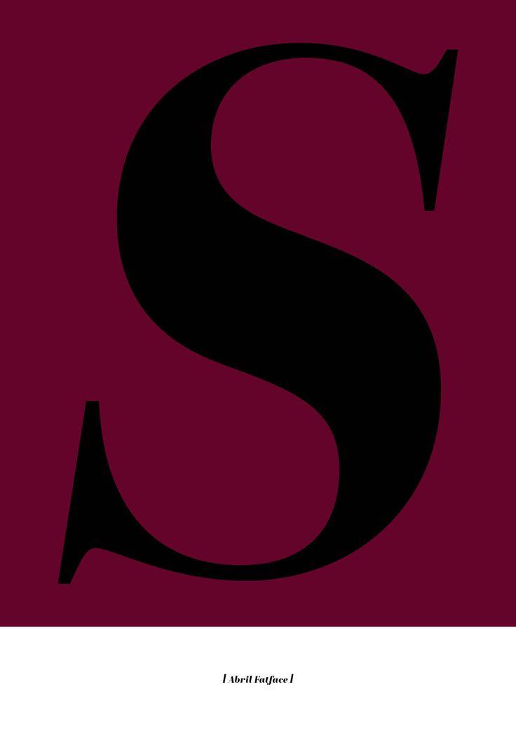 """""""S"""" poster. Buy online at www.hofdamerne.dk or prettyposters.dk"""