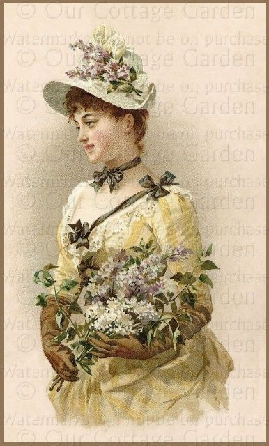 "Victorian Glove Box Ladies - ""Lilacs"""