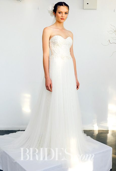 Brides.com: Marchesa - Fall 2016                          Wedding dress by Marchesa                                                                                  Photo: Luca Tombolini / Indigitalimages.com
