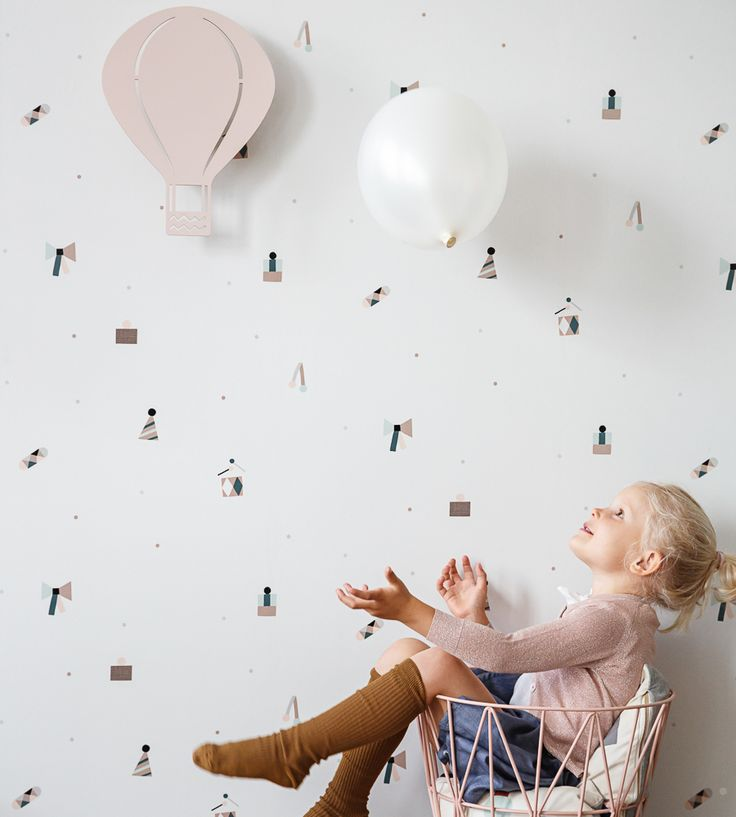 How To Style Girls Rooms | Party Wallpaper by Ferm Living | Jane Clayton