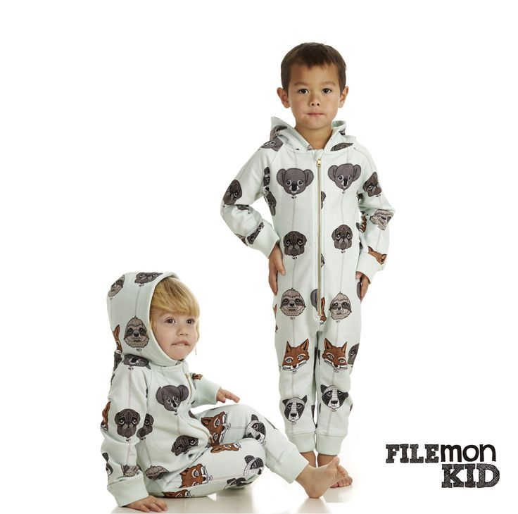 Onesie AOP Balloon Animals 100% organic cotton, GOTS certified size 68/74-104/110