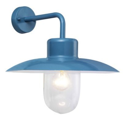 Mara Outdoor Wall Light in Blue, 5052931171354